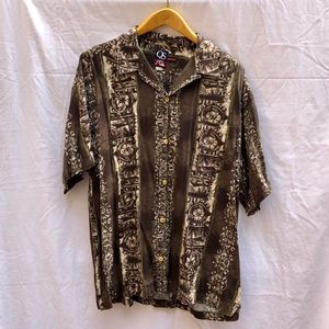 Quiksilver Mens Tiki Button Down Shirt XL